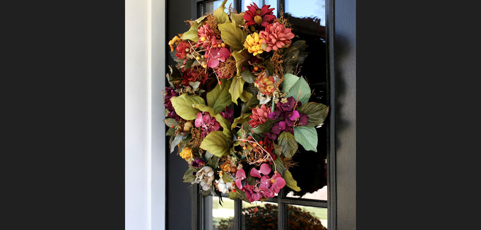 bouquet, flowers, floral, fall, autumn, Detroit, holidays, patio, homemade, wreath, decor, front door, outdoors, fall colors, fall wreaths, outdoor decor, home made wreath, handmade wreath, decorate, fall wreath, autumn colors, fall color, front door decor