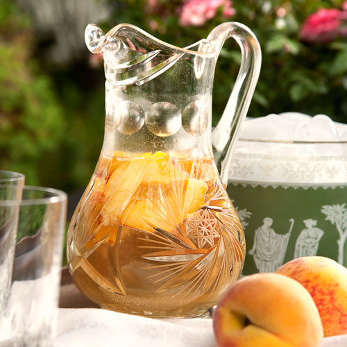peach recipes, peach sangria