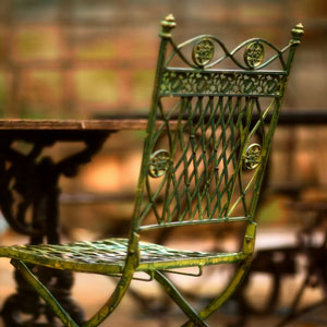 Wrought Iron Chairs - Tuscany Cafe - Italy