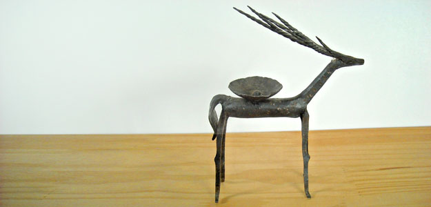Wrought Iron Animals: Animal Outdoor Décor - Candle Holder - Deer - Antelope - Sculpture